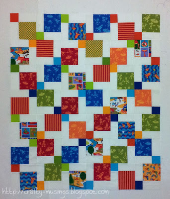 Bot Camp baby quilt