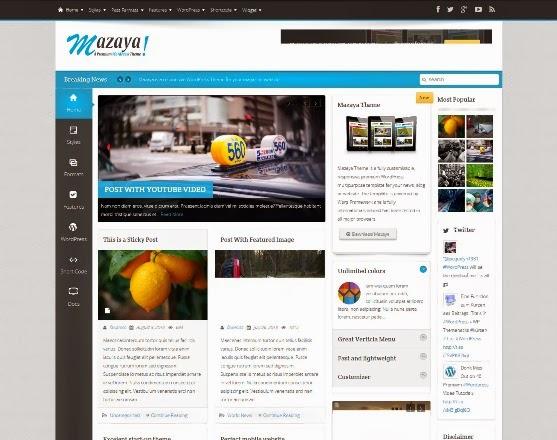 Mazaya - Responsive WordPress Theme for News and Magazine