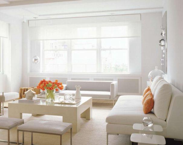 Tons De Laranja Para Sala De Estar ~ Casa da Nane Laranja e Branco na Decoração