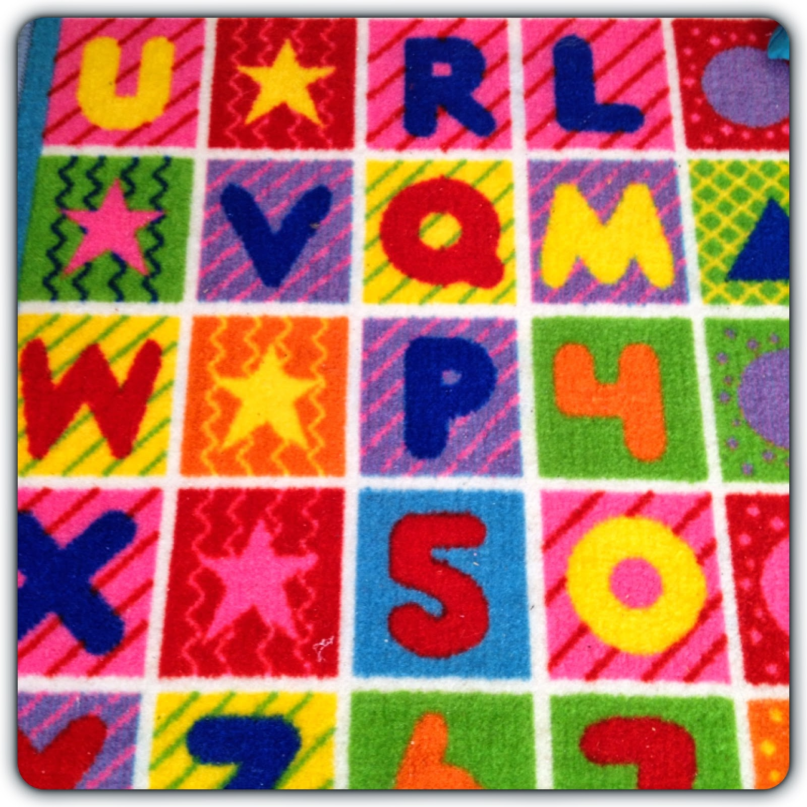 letters and numbers play mat
