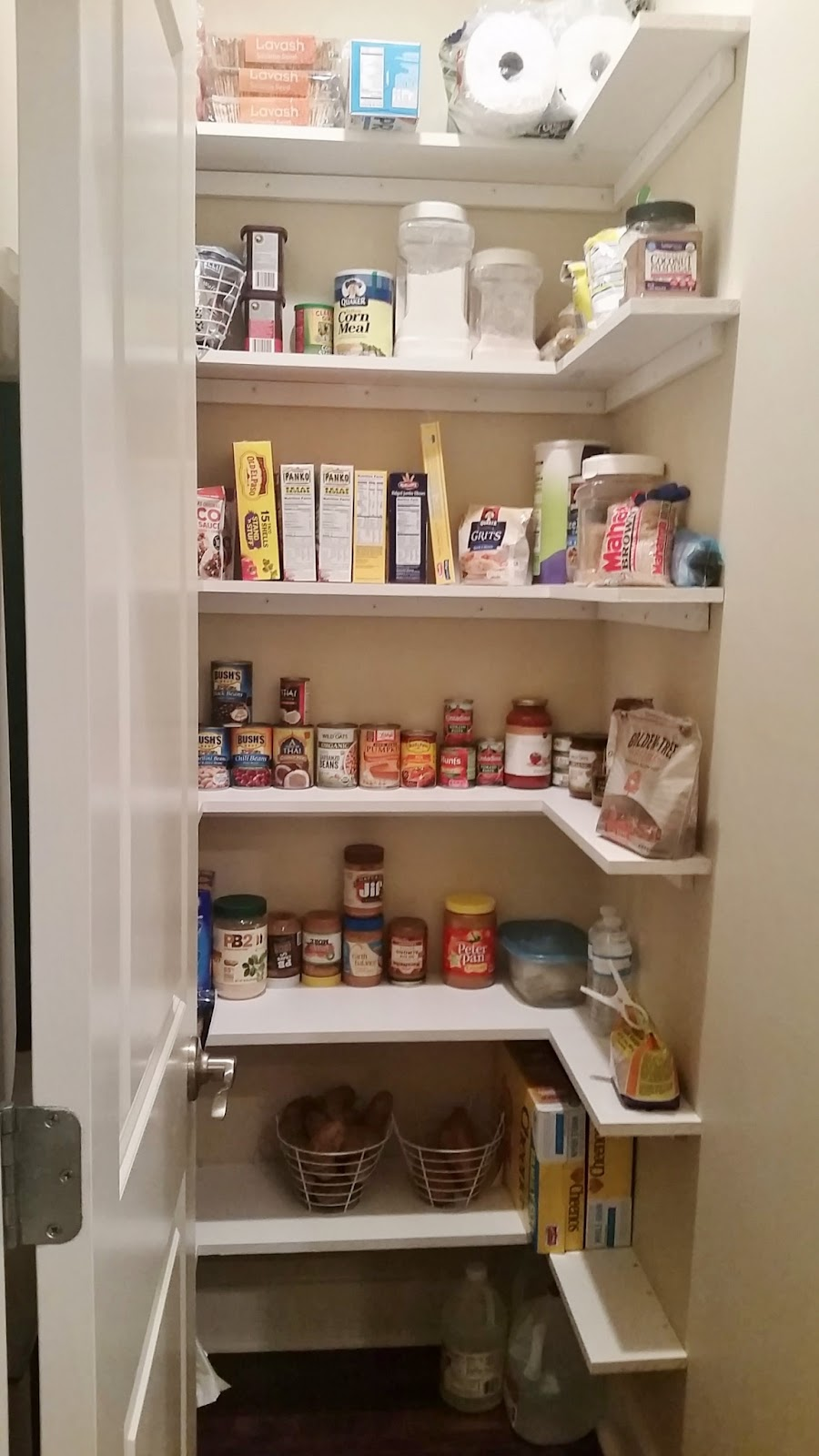 Kitchen Pantry Makeover With Wood Shelves