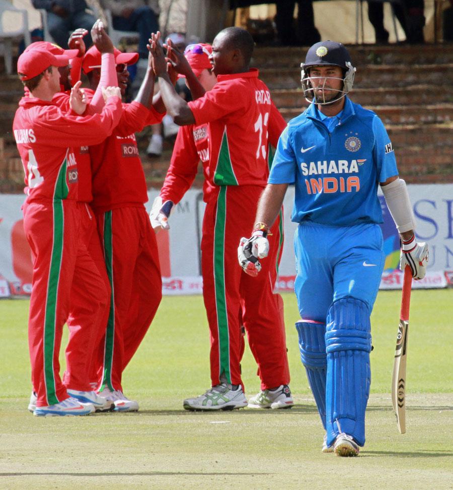 Cheteshwar-Pujara-OUT-Zimbabwe-vs-India-4th-ODI