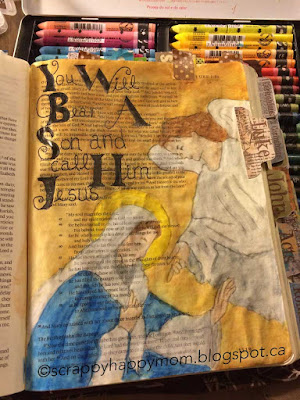 Luke 1 Bible Journal Page by Lynn Shokoples