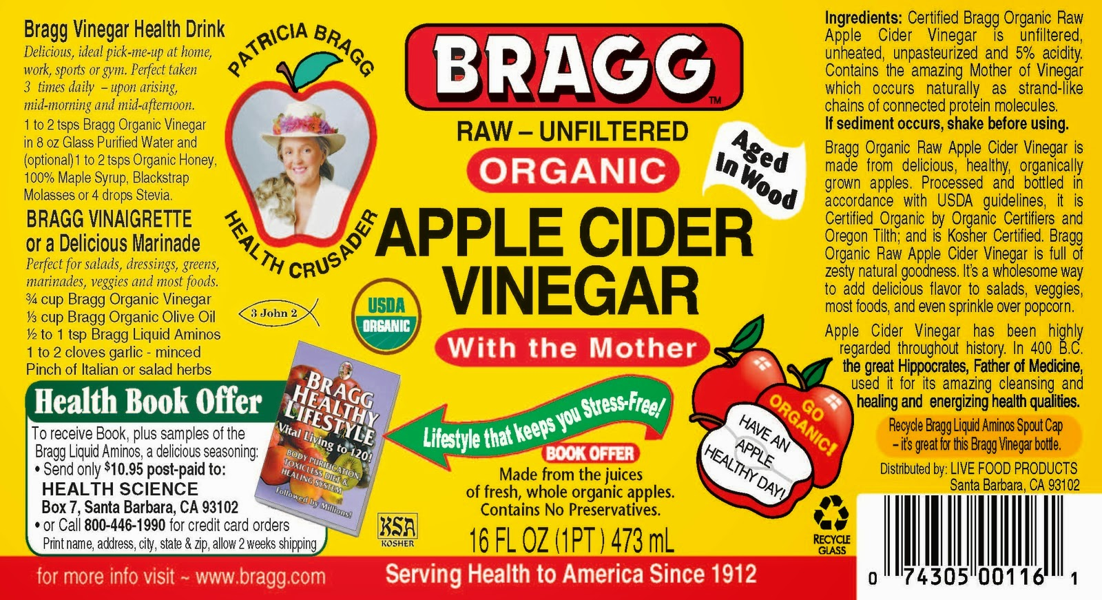 bragg apple cider vinegar book pdf