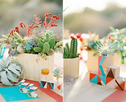 wooden-box-planters-of-succulents-and-cacti-centerpieces