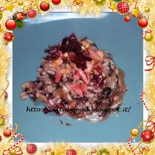risottata di radicchio e pancetta