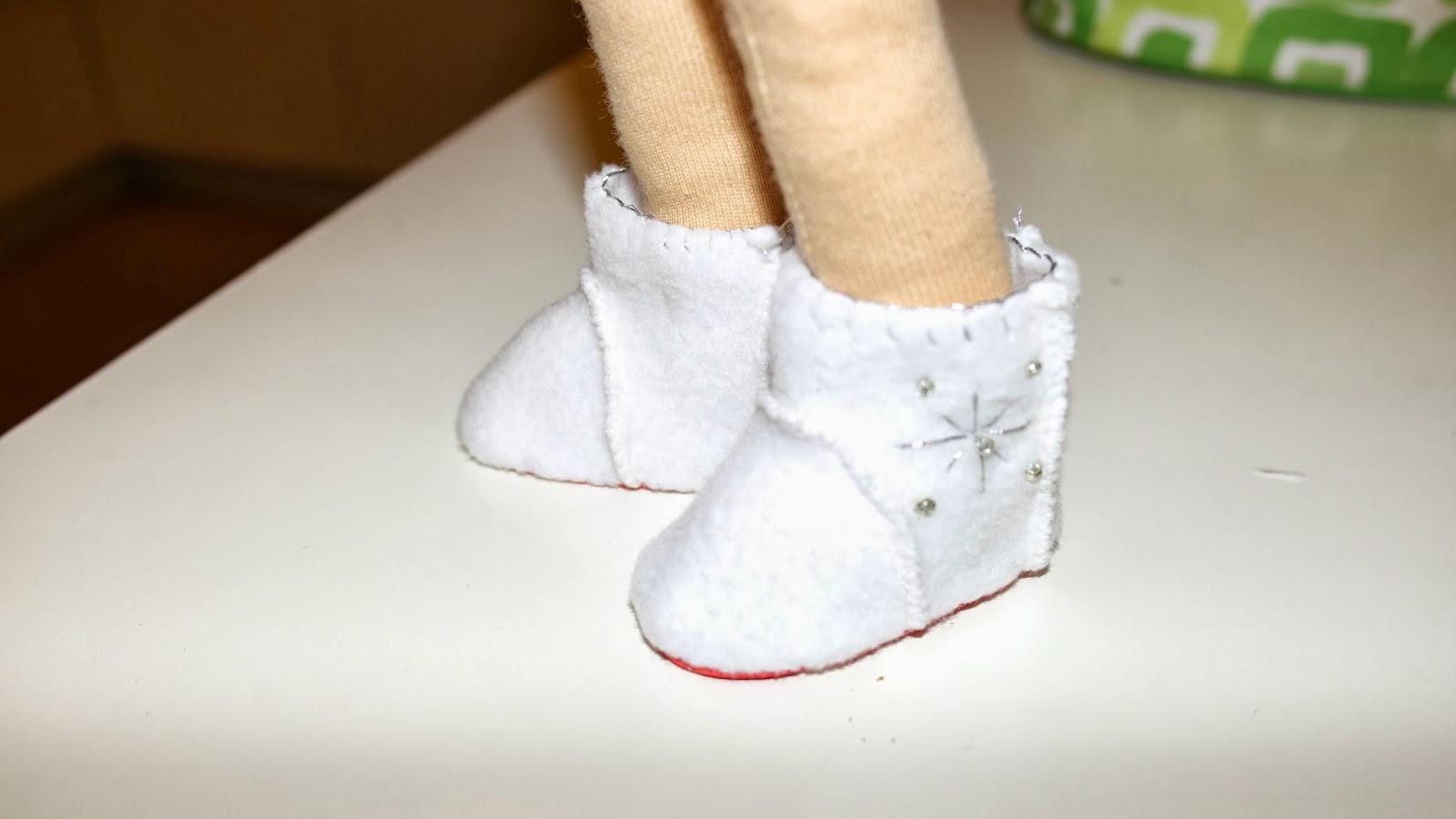 Угги для куклы своими руками