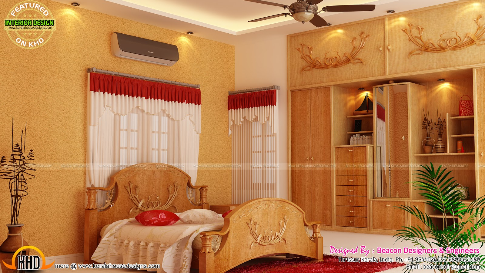 Kitchen Bedroom Interiors In Kerala Kerala Home Design
