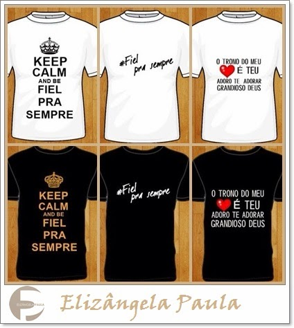 Camisetas do CD-Fiel pra sempre