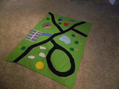 Easy Peasy Lemon Squeezy Car Track Blanket Diy