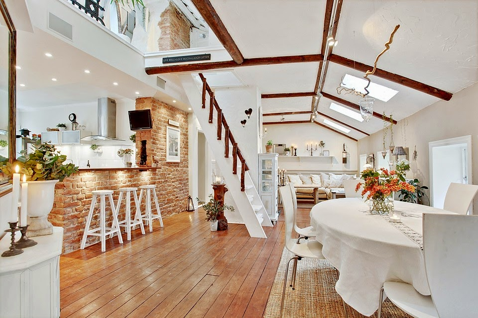 Ladrillo Loft loft un loft en ladrillo visto blanco y madera virlova style