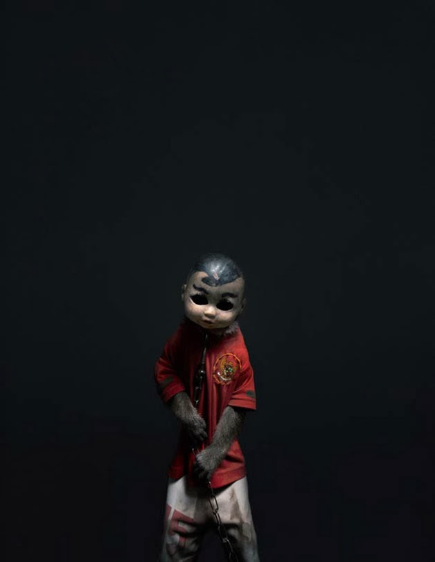 The Scary Indonesian Masked Beggars Monkeys