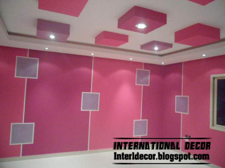 Modern Kids Room Gypsum Ceilings Designs