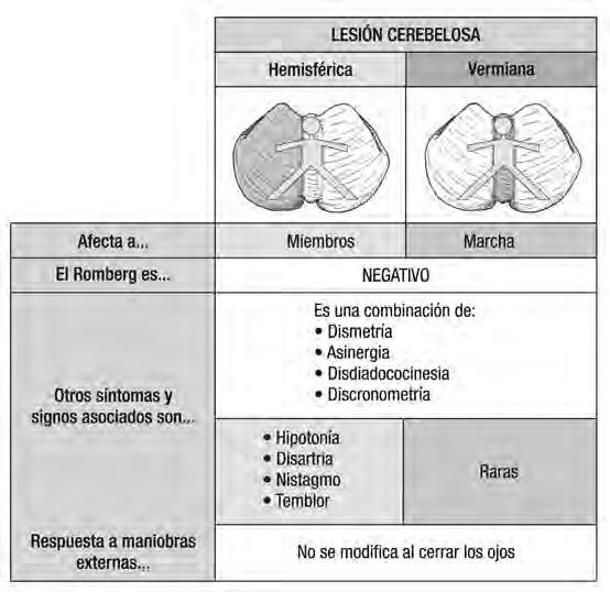 Resultado de imagen de lesion cerebelosa