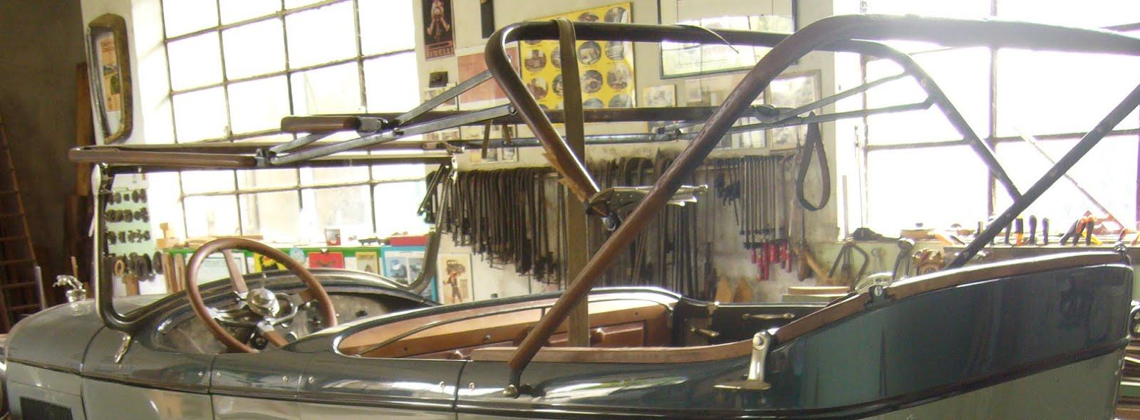 Restauro legno auto d 39 epoca - Misure garage per 2 auto ...