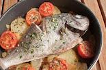 Dorada al forn amb patates