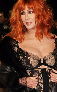 Cher sporting an orange wig at London premiere of 'Burlesque'