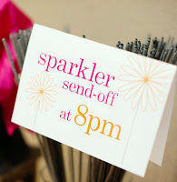 Sparkler Announcement Sign
