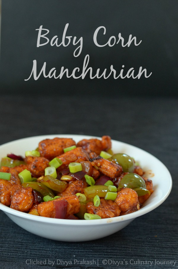Easy to make restaurant style baby corn Manchurian