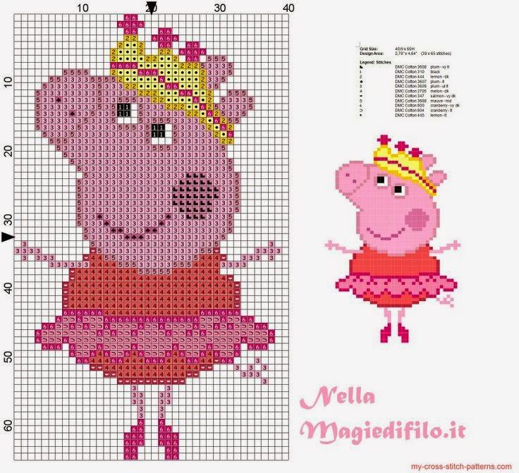 Knitting Pattern For Peppa Pig : Ba?l de Punto de Cruz: Peppa Pig