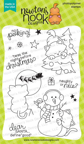 Newton's Curious Christmas - 4x6 Christmas Cat Stamp set by Newton's Nook Designs
