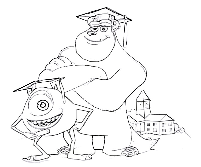 #15 Monsters University Coloring Page