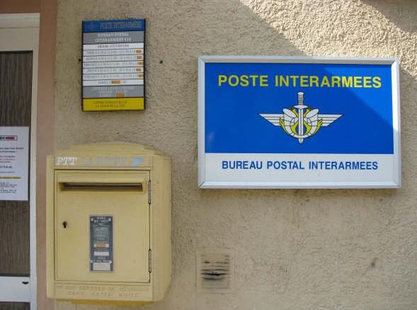 La poste aux armees une plaque t l e de bureau postal interarm es - Bureau de poste la defense ...