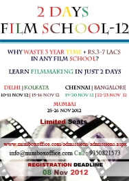 two days short film training in Bangalore