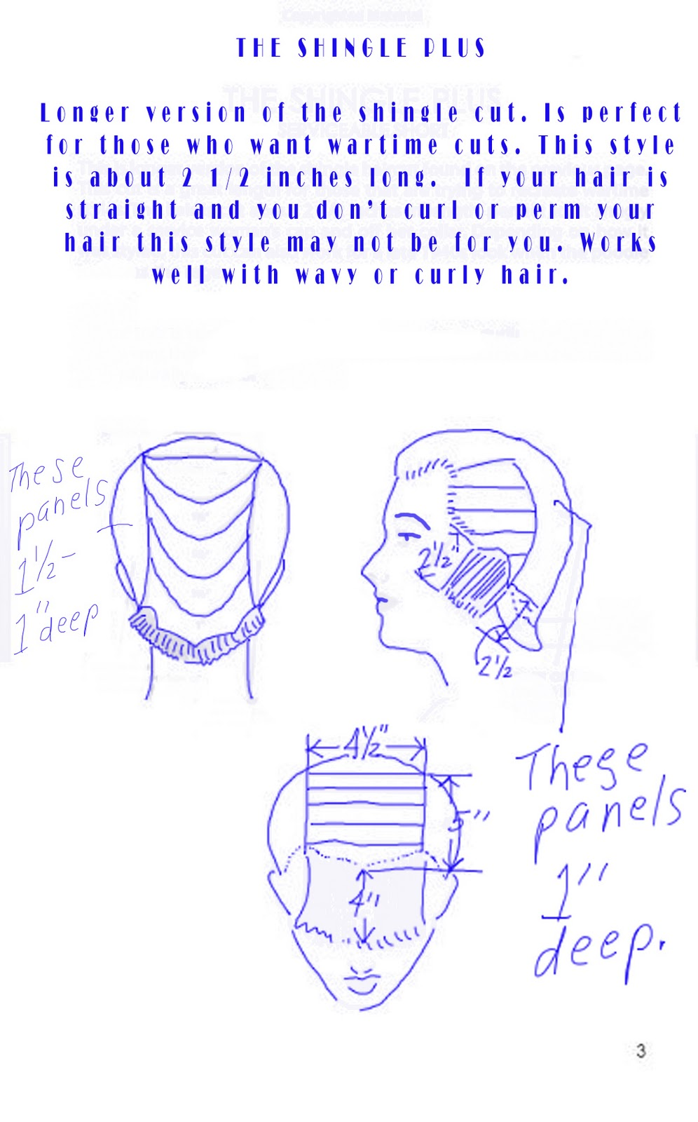 Just keep in mind the length shown at the nape of the neck is for the  majority of the head. The length of the bangs and the sides of the head  will vary.