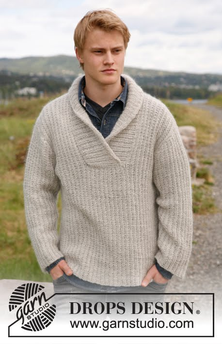 пуловер с воротничком