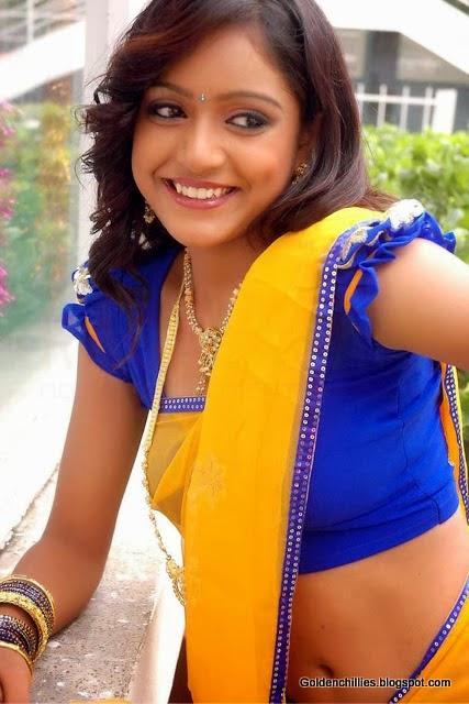 south Indian hot actress half saree wearing