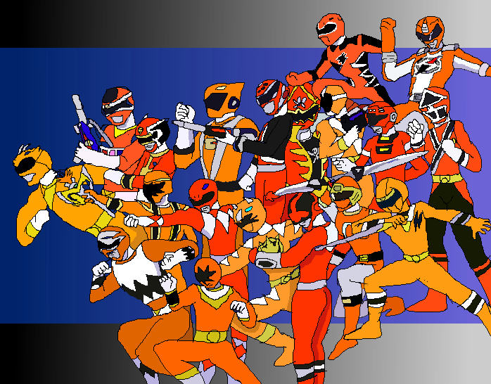 henshin grid why no orange ranger and why not purple