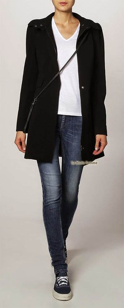 Manteau Vila court noir style cool pour cet automne