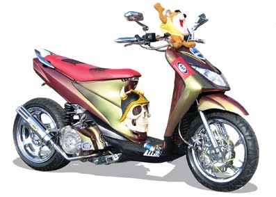 Modifikasi Motor Suzuki Spin