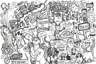 Ilustracion, dibujo sobre ¿que es la creatividad? creatividad imaginación diseño imagen foto creatividad creativo imaginativo extraño barroco lleno blanco y negro