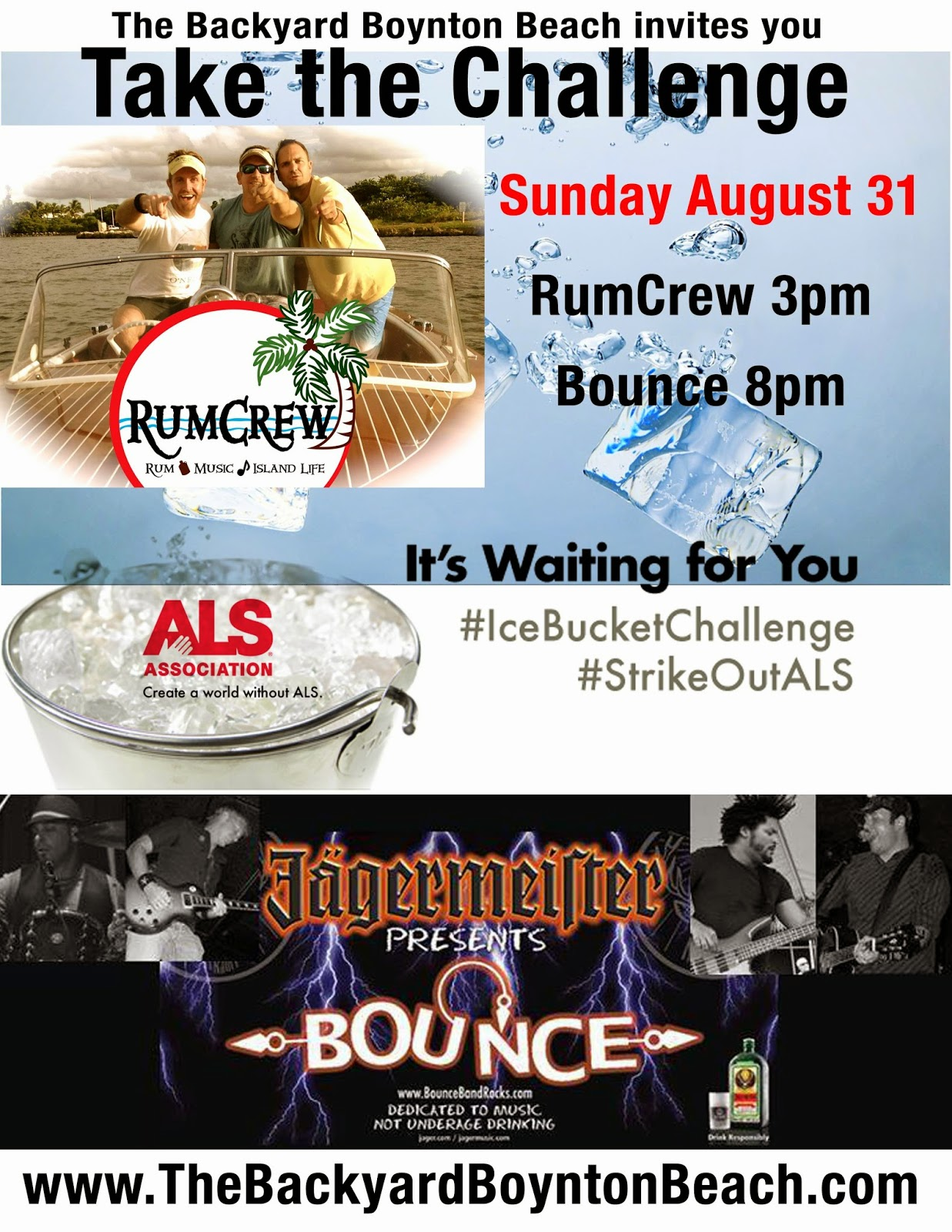 als ice bucket challenge this sunday at the backyard boynton beach