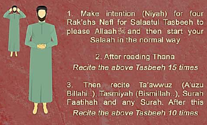 how to read salatul tasbih