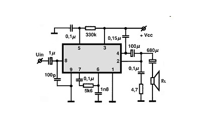 TDA1010 - 10W Audio Amplifier Circuit
