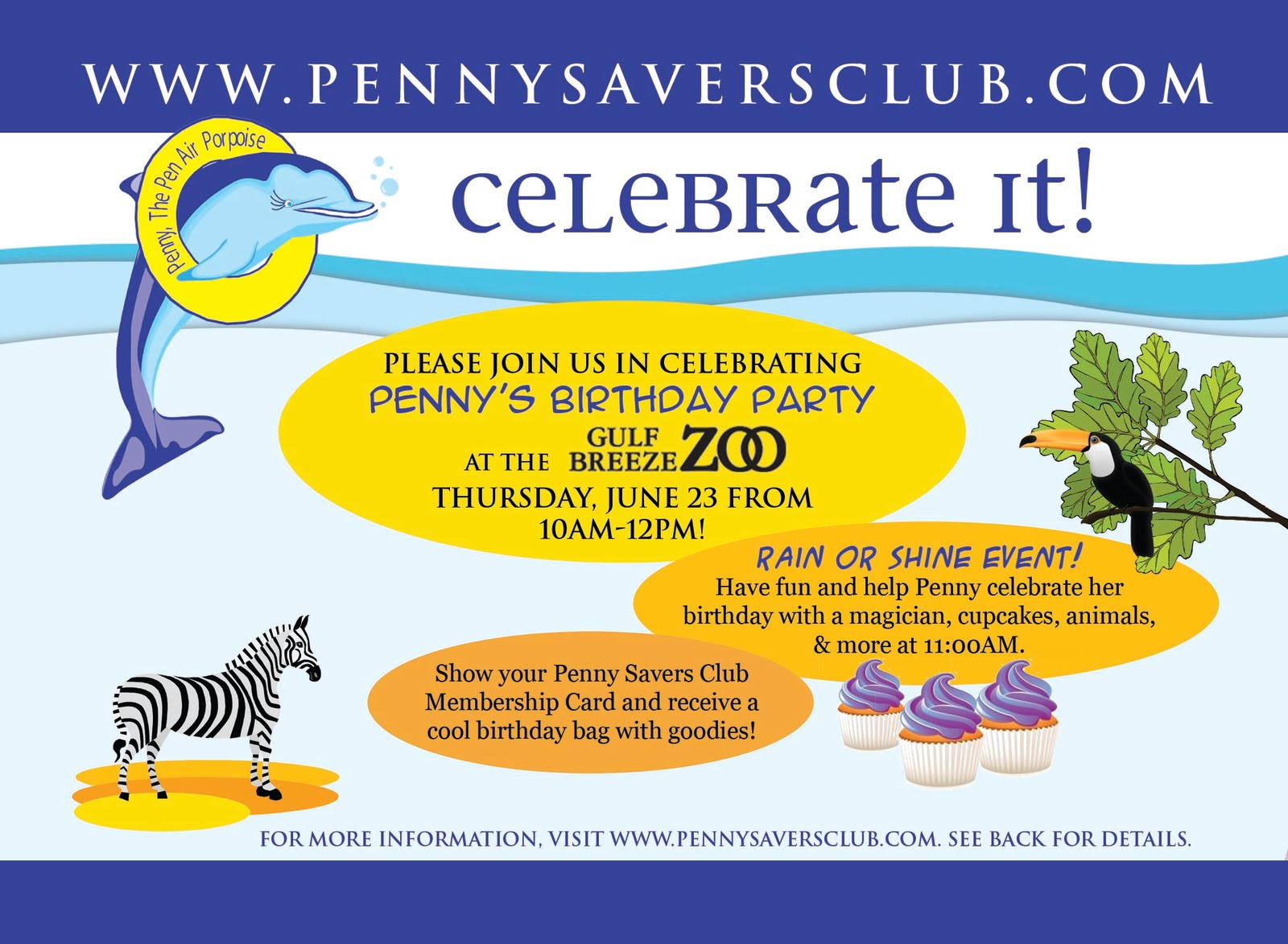 Penny Savers Club Pennys Birthday Party at the Zoo