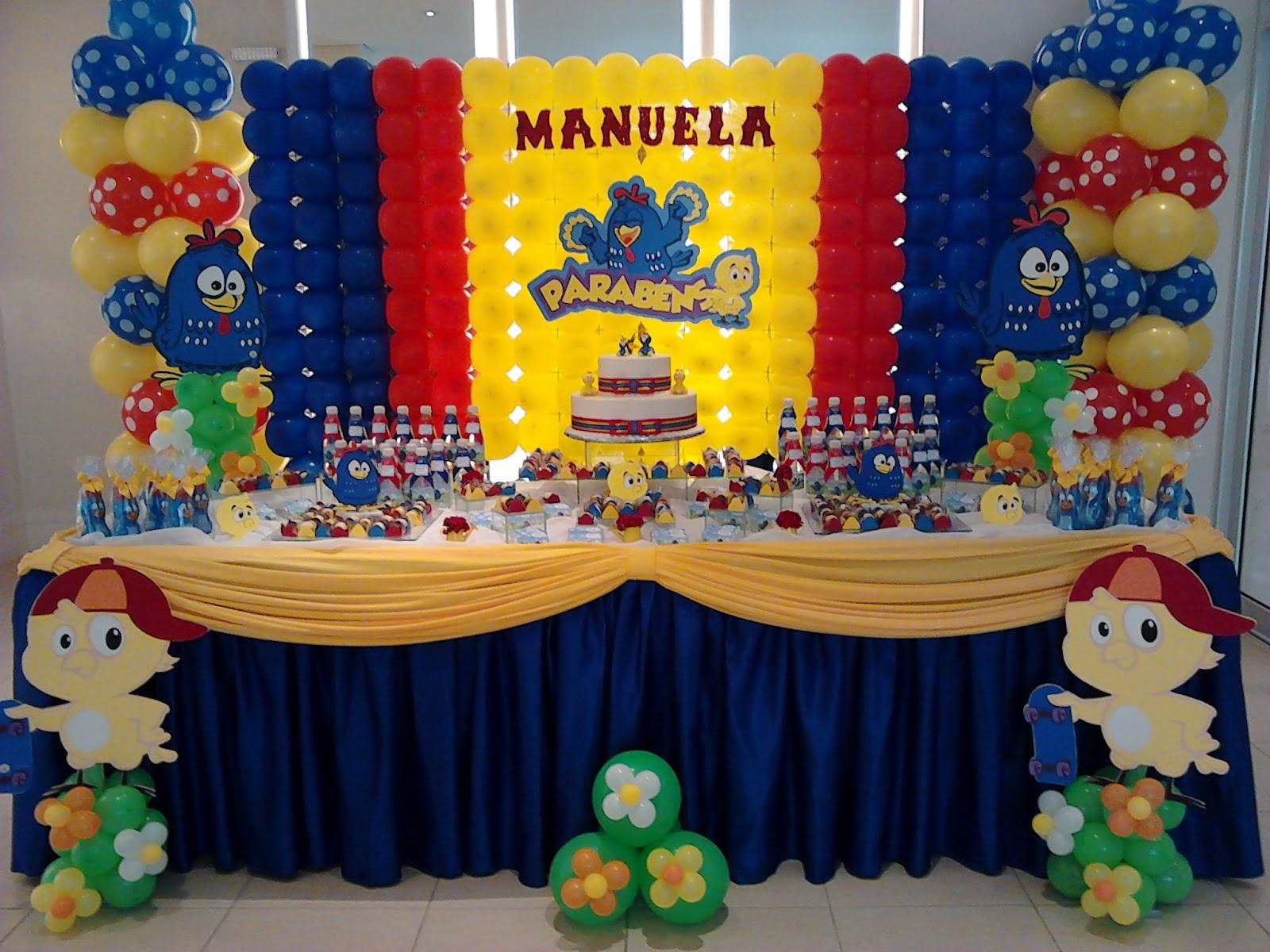 decoracao galinha pintadinha azul e amarelo:Detalhes com Balões: Galinha Pintadinha!!!!
