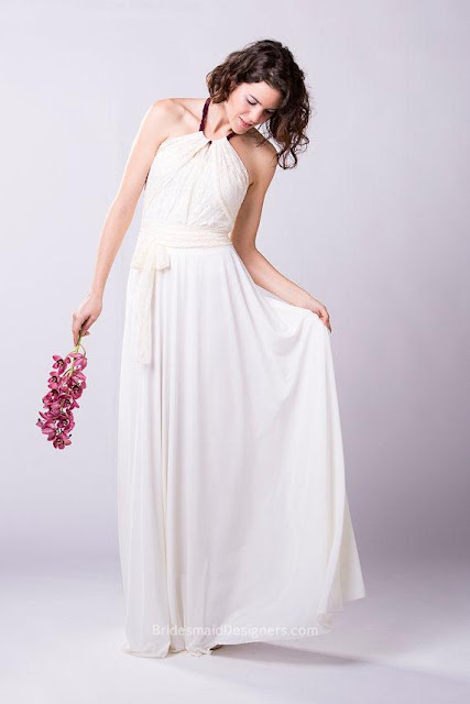 halter neckline bridesmaid dresses