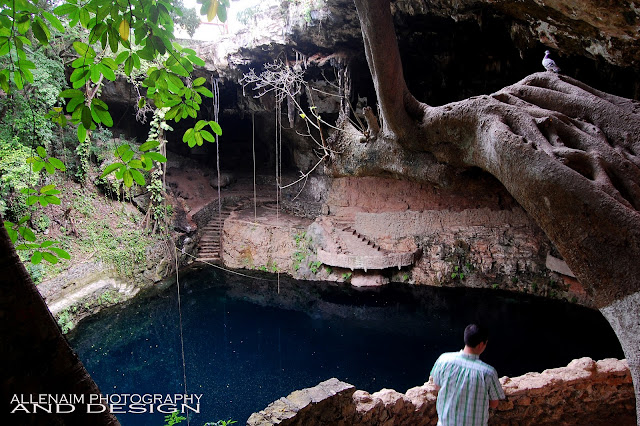 Don't leave Mexico without seeing Ek Balam and a CENOTE! Cenote Zaci #travel #mexico
