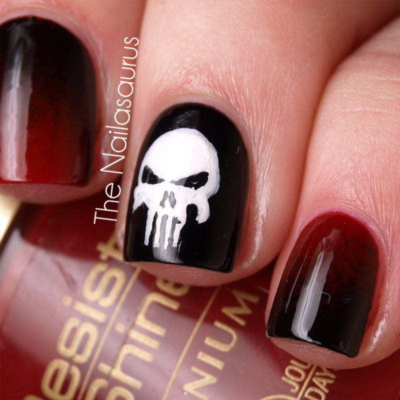 Punisher Nail Art | Best Nail Designs 2018