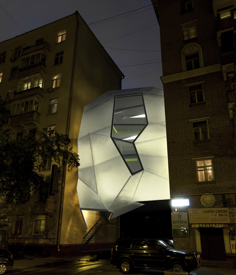 Parasite office building moscow za bor architects for Space architecture and design