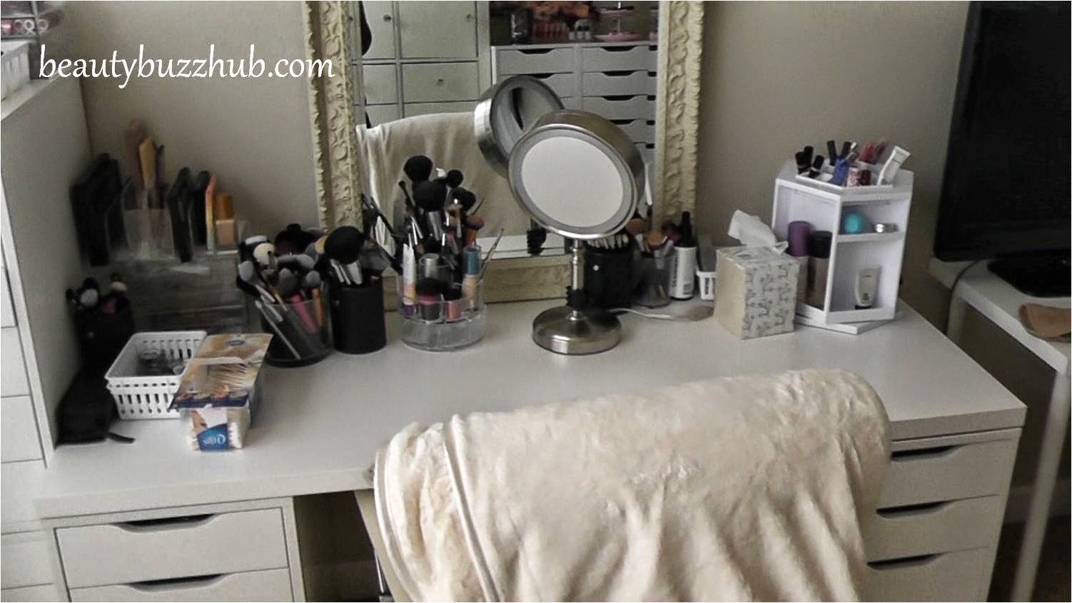 Table Top Spinning Cosmetic Organizer by Lori Greiner  BeautyBuzzHub Makeup  Room Tour New Filming Setup. Makeup Organizer Ikea