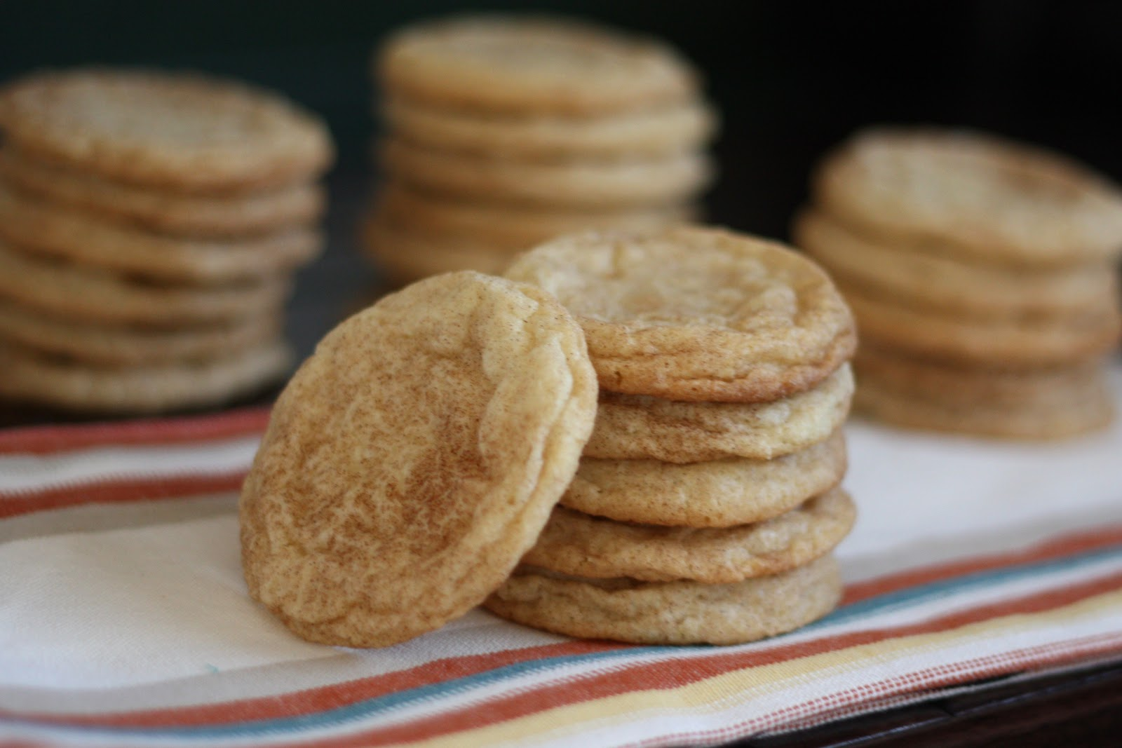 sweet cinnamon sugar cookies with crisp edges and chewy centers these ...