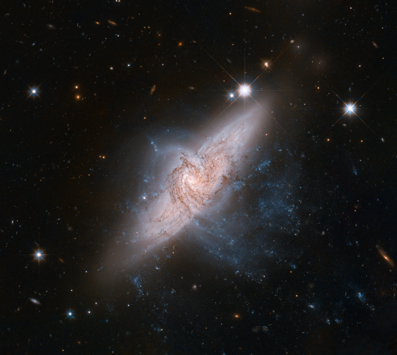 NGC 3314 Galaxy