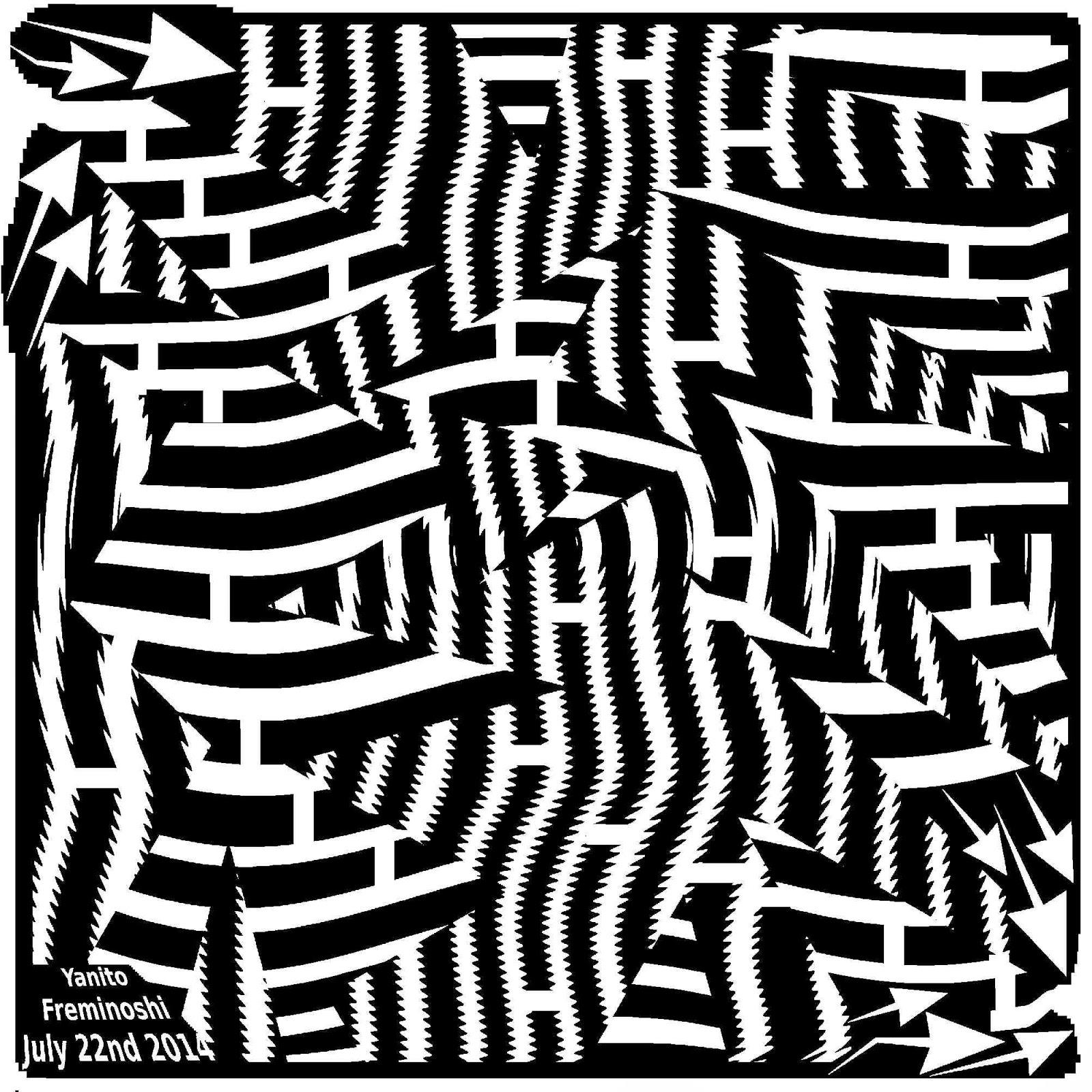 explosion maze art