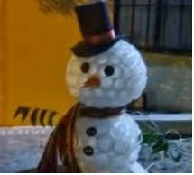 Muñeco De Nieve Con Vasos Desechables Manualidades útiles