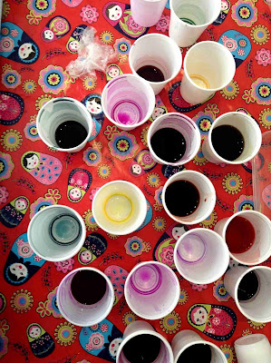 Dye pots